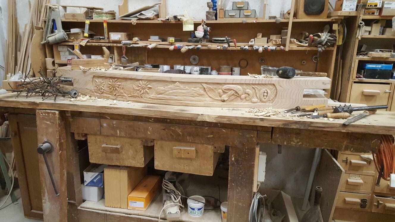 Dettaglio cucina rustica falegnameria